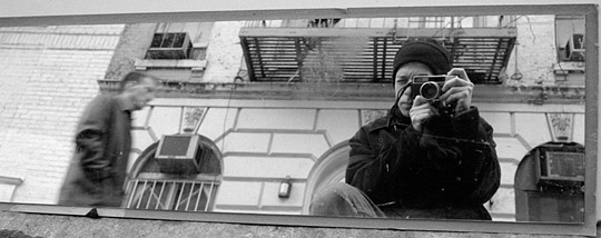 Self-portrait, New York City.